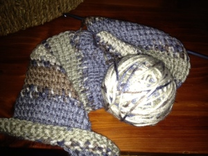 scarf and ball of yarn