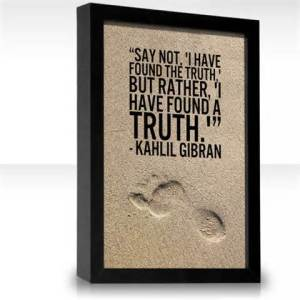 pic of khalil gibran truth quote