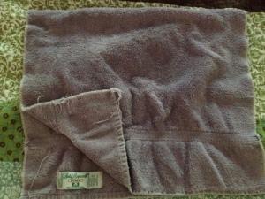 My Purple Knight hand towel from Santa my freshman year.....um over 26 years ago.  Happy memories!
