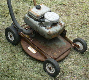 pic of old lawn mower