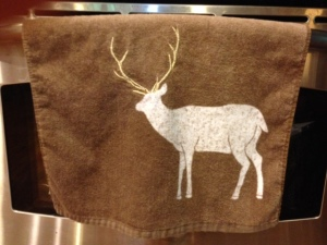 My most recent towel--from Mama this past Christmas.  It will always remind me of our precious times together.