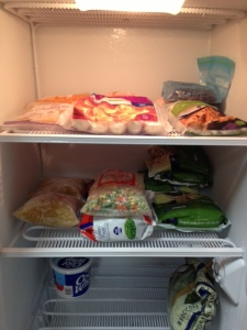 Only thing left is to move the other things back from the little freezer tomorrow.  Whoo hoo!