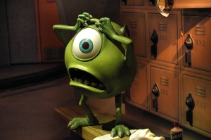 pic of mike wazowski panicked