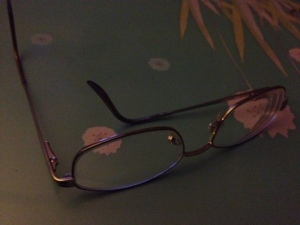 pic of my glasses