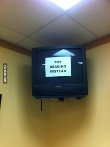 I think I would pay our doctors to put this on their tv screens.  Pic courtesy of 9gags.com
