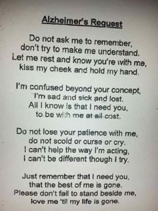 pic of alzheimers request