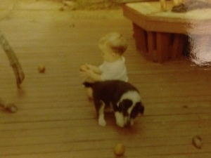 pic of puppy me and Pete 1