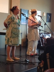 "Ann Hite and Karen Spears Zacharias sharing ""Conversations with Mountain Women."" Too much fun."