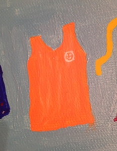 I added the nightgown so lovingly made for me when Mess Cat and I were painting together on Saturday.  Happy memories.....