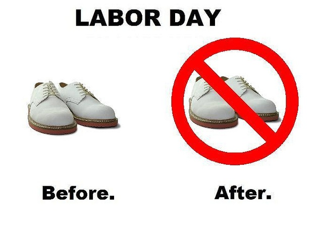 No White Shoes After Labor Day