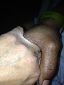My sweet friend took my hand and my heart and wrapped them both in warmth.