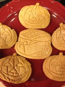 I made this batch for me. These are traditional, and that matters to me.  Mama made these every fall.  I used her cookie cutters to make these today.  Also going to the Fall Family Hootenanny.