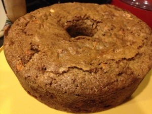 My Cocoa Apple Cake this year.....recipe from my Baking Cousin's Best Cookbook Ever.  Just out of the oven.