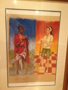 Pastel drawing by local artist Micah Goguen, a gift from Aub who knew how much I love it.