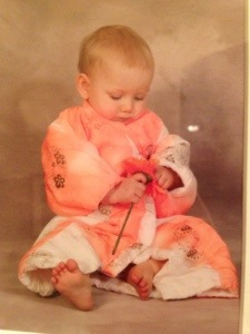 Our Princess eight years ago in a kimono given to her before we moved back.