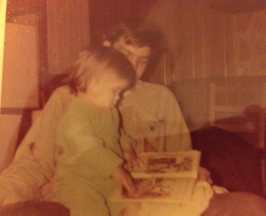 Reading with my Daddy.  He loved books as much as I do.