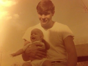Me and my Daddy--he was pretty close to 25 in this picture.  He looks like a baby to me here.