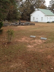 The precious church and cemetery out at Little Union.