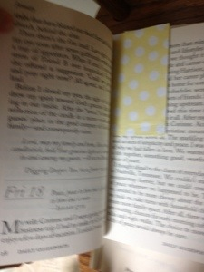 The page marked with one of Mama's Mary Engelbreit page-a-day calendar pages.  January 18.