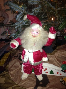 This Santa has watched over me every year of my life.  And now he has a new home.