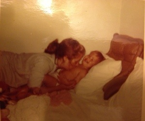 Mama doing what she did best--loving.  Me and my Mama.  How I miss her every single day.