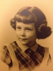 Check out my Mama.  The original Princess Leia buns!  Wasn't she a cutie!