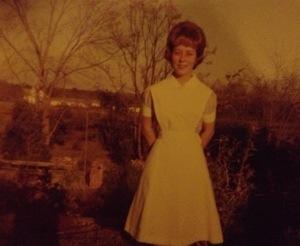 Mama in her nursing uniform.