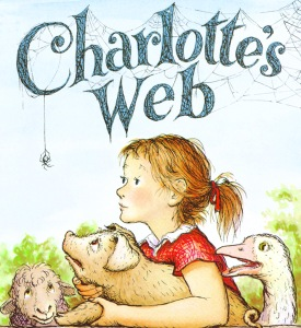 Charlotte's Web, written by E. B. White and illustrated by Garth Williams from http://www.thegrandmacon.com/web/