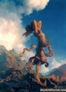 """""""Ecstasy"""" by Maxfield Parrish from maxfieldparrish.info  I once had a sweatshirt with this painting on the front.  This work of art has always touched my heart."""