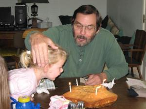 Daddy and our Princess on his birthday back in 2008.