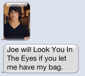 And then Joe Jonas, her first VERY serious love, made his case.