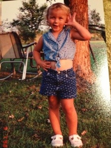 My girl in one of my favorite outfits from the consignment sale.  She could always make me laugh--still can.