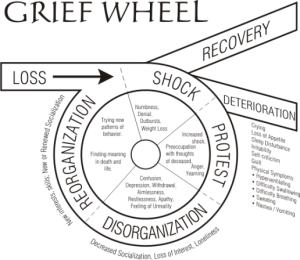 Grief wheel courtesy of http://www.dailystrength.org/groups/haven-of-peace-for-estranged-parents-hope/media/796196