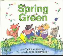 One of my favorite books can be found at http://www.amazon.com/Spring-Green-Valrie-M-Selkowe/dp/0688040551/ref=sr_1_1?ie=UTF8&qid=1396919673&sr=8-1&keywords=spring+green