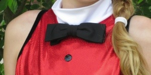 Thankful for my Fella's resourcefulness.  This bowtie looks great I think.