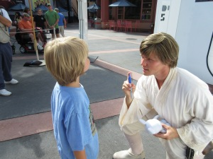 Cooter meeting Luke Skywalker.  They had quite the conversation. What a moment!