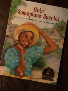 http://www.amazon.com/Goin-Someplace-Special-Patricia-McKissack/dp/1416927352/ref=sr_1_1?ie=UTF8&qid=1407811247&sr=8-1&keywords=goin+someplace+special