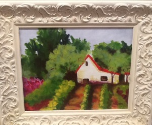 This lovely painting by one of my favorite artists, Barbara Wilkinson