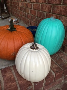 I think the teal is a nice addition to our Halloween traditions.