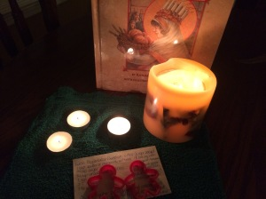 Candles, cookie cutters, a special recipe, and a girl who shared light and love long, long ago.....