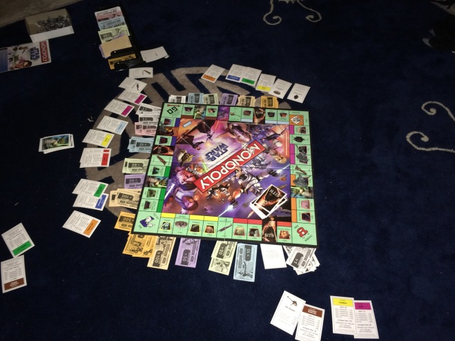 Left it set up and on going from Friday night until this morning.  Marathon Monopoly--too much fun.