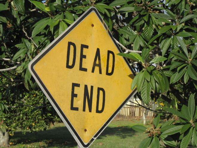 By Marcus Quigmire from Florida, USA (Dead End  Uploaded by Princess Mérida) [CC BY 2.0 (http://creativecommons.org/licenses/by/2.0)], via Wikimedia Commons