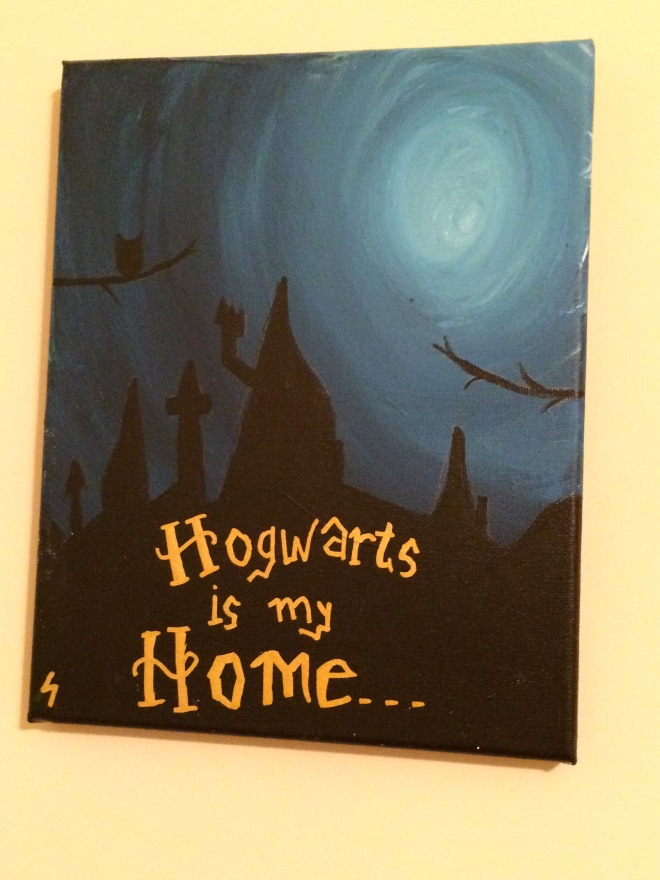 A gift from the brush of her big sister, with whom she shares a love of all things Potter.