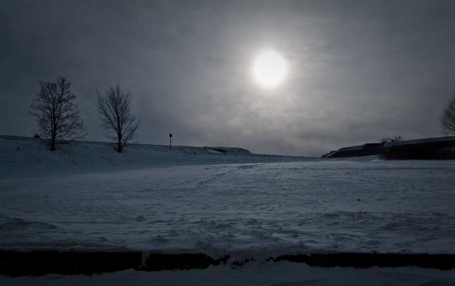Cold Sun Landscape